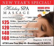Holiday Spa Massage