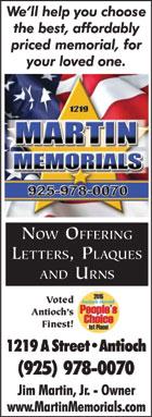 Martin Memorials 08-15