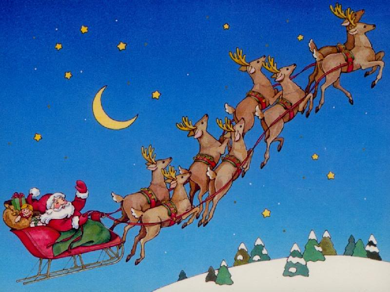 Santa In Sleigh UFO Sighted Over Antioch