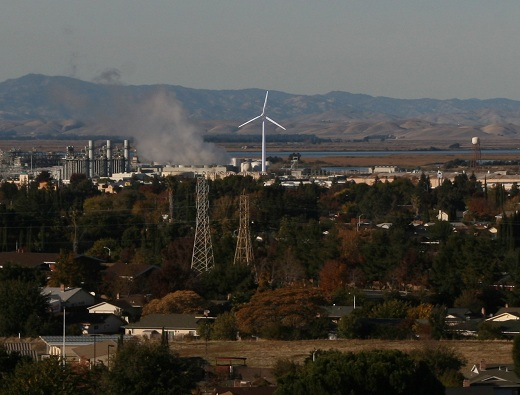 Wind Turbine from Contra Loma and Donlon Boulevards Council Not Blown Away by 327 Foot Windmill