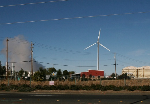 Wind Turbine from Pittsburg Antioch Highway Council Not Blown Away by 327 Foot Windmill