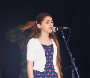 Brynna Finley sings 300x263 Antioch Celebrates Memorial Day with Thunder