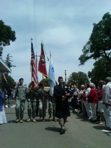 Procession led by bagpiper Bryan Reynolds 225x300 Antioch Celebrates Memorial Day with Thunder