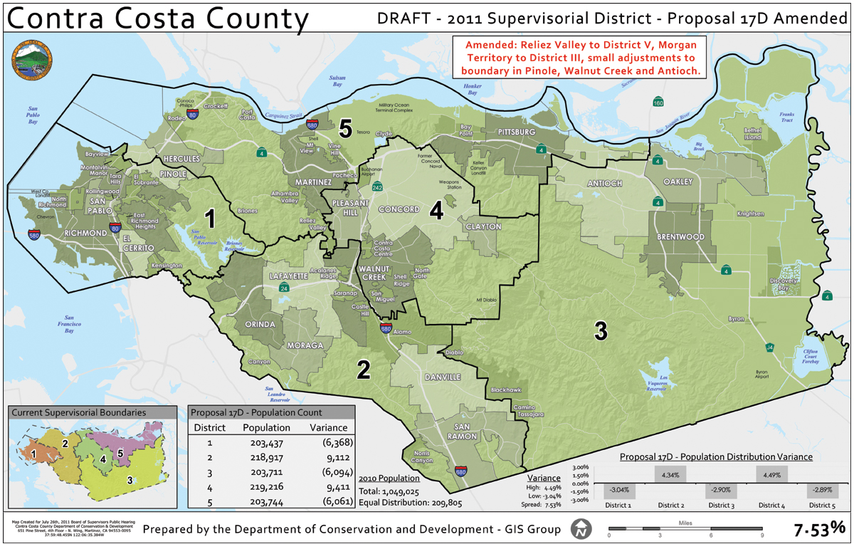 Proposal 17 D Amended Supervisors Decide On New District Plan   Antioch Split