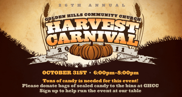 Golden Hills Harvest Carnival 2011 Churches to Host Safe, Alternative Halloween Events