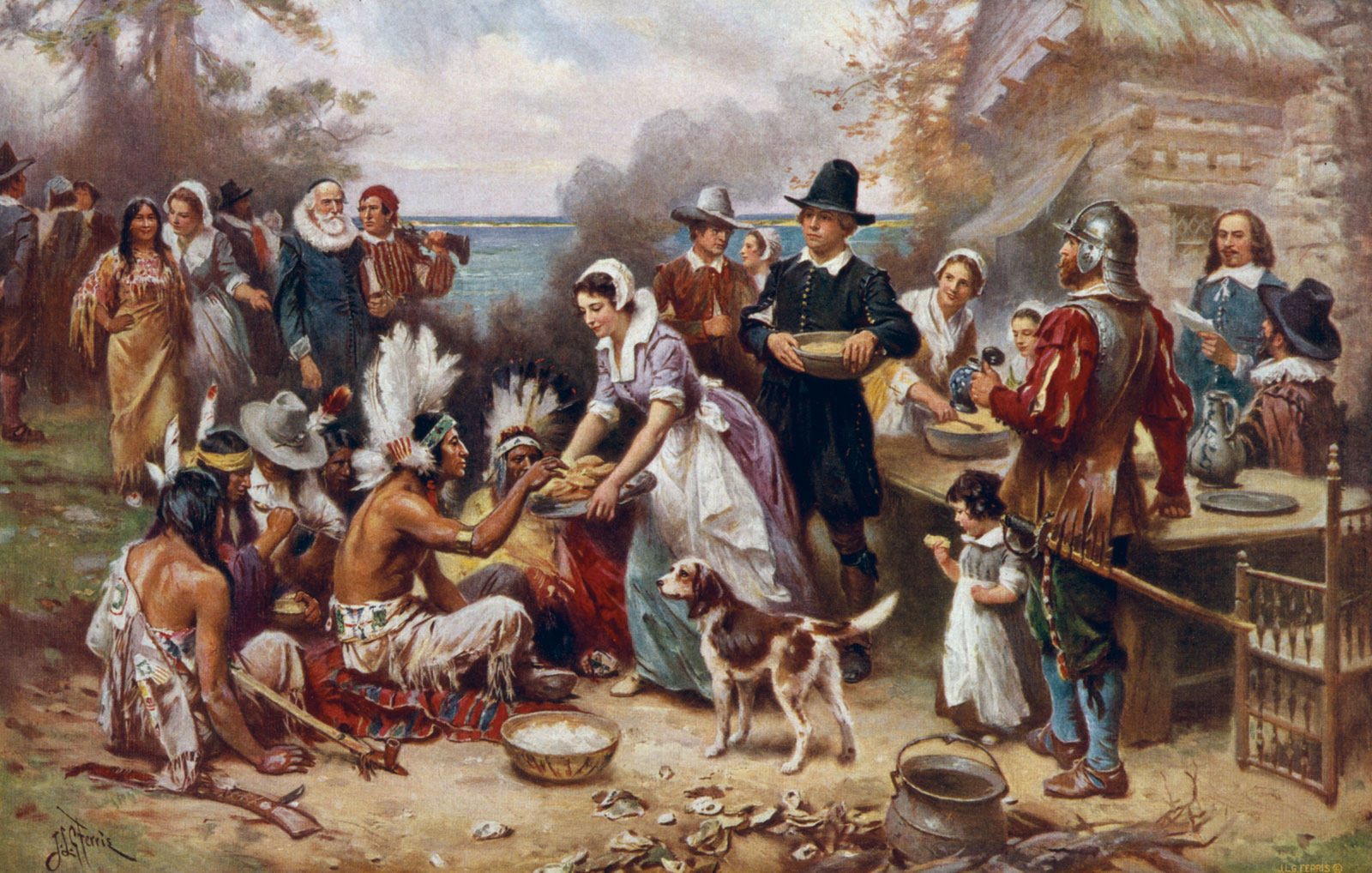 The First Thanksgiving by J.L.G. Ferris Where Did Thanksgiving Come From and Why Do We Celebrate It?