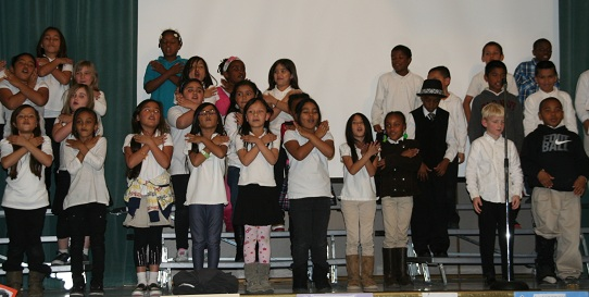 2nd grade performers First Class, Captivating Black History Celebration
