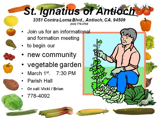 community garden flyer Antioch Herald