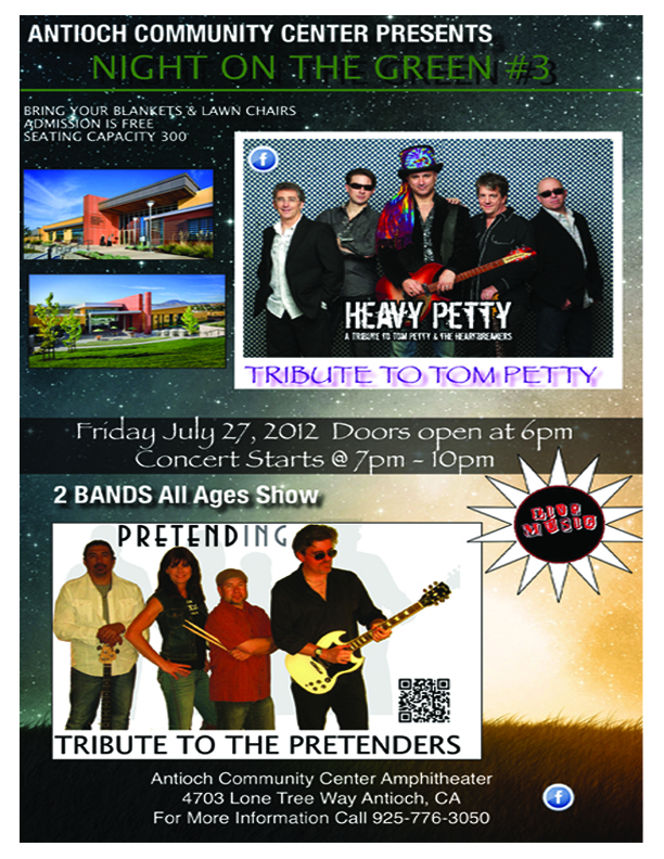 NIGHTONGREEN31 Free Night on the Green Summer Concert at Antioch Community Center July 27