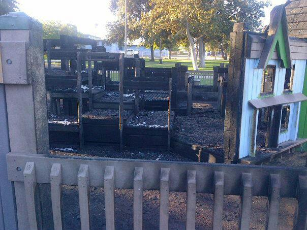 Antioch City Park playground burned Two Boys Arrested for Burning Antioch City Park Play Structure
