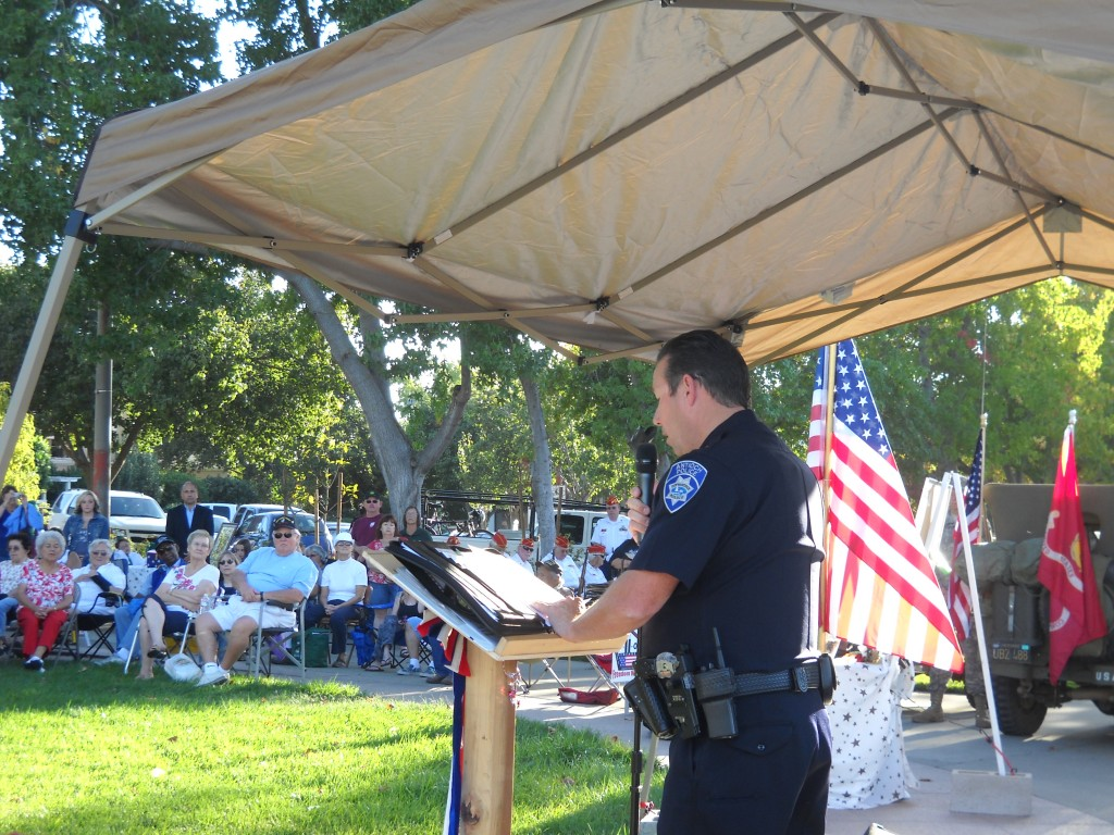 Chief Cantando speaks at 9 11 memorial 1024x768 Antioch Residents, Officials Gather to Remember 9 11