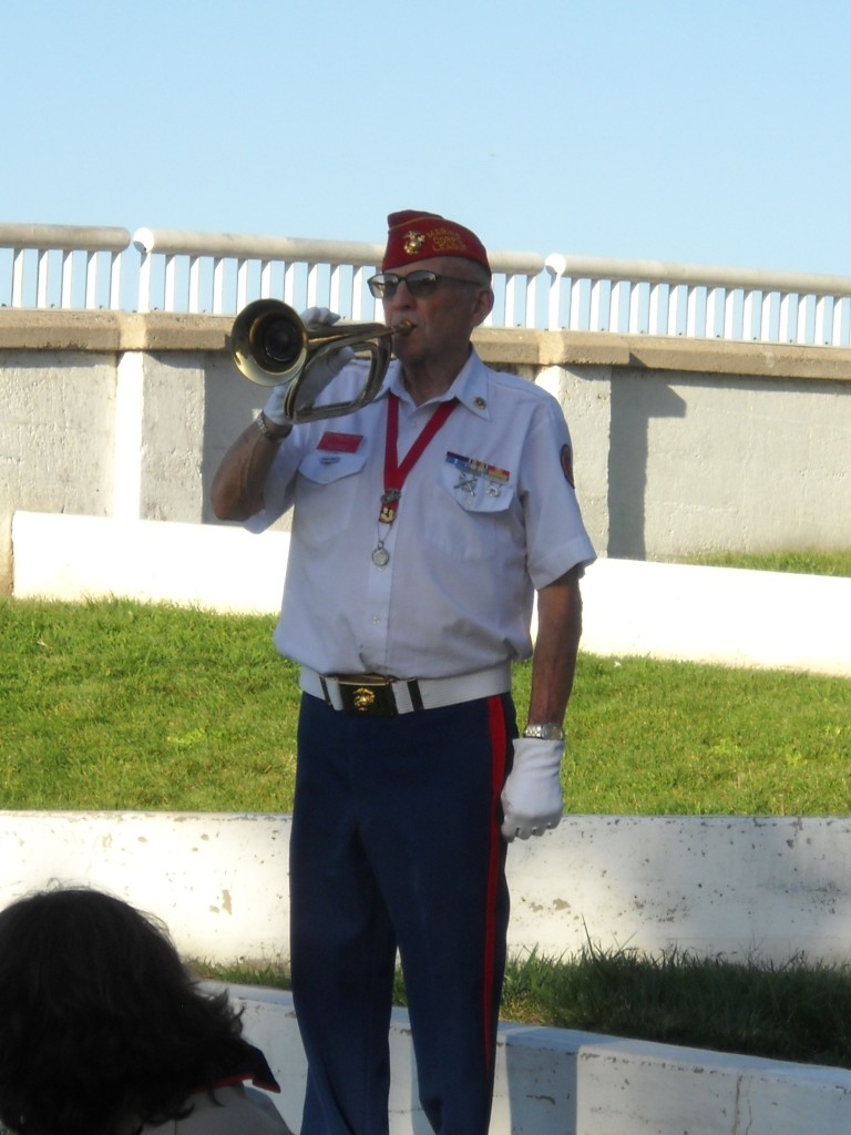 Len Bregman plays Taps at the 9 11 memorial 768x1024 Antioch Residents, Officials Gather to Remember 9 11