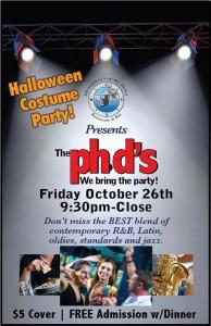 phds & costume party Humphreys Fri Oct 26
