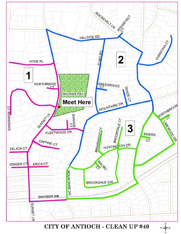 CityCleanUp40map Antioch neighborhood clean up this Saturday, November 3