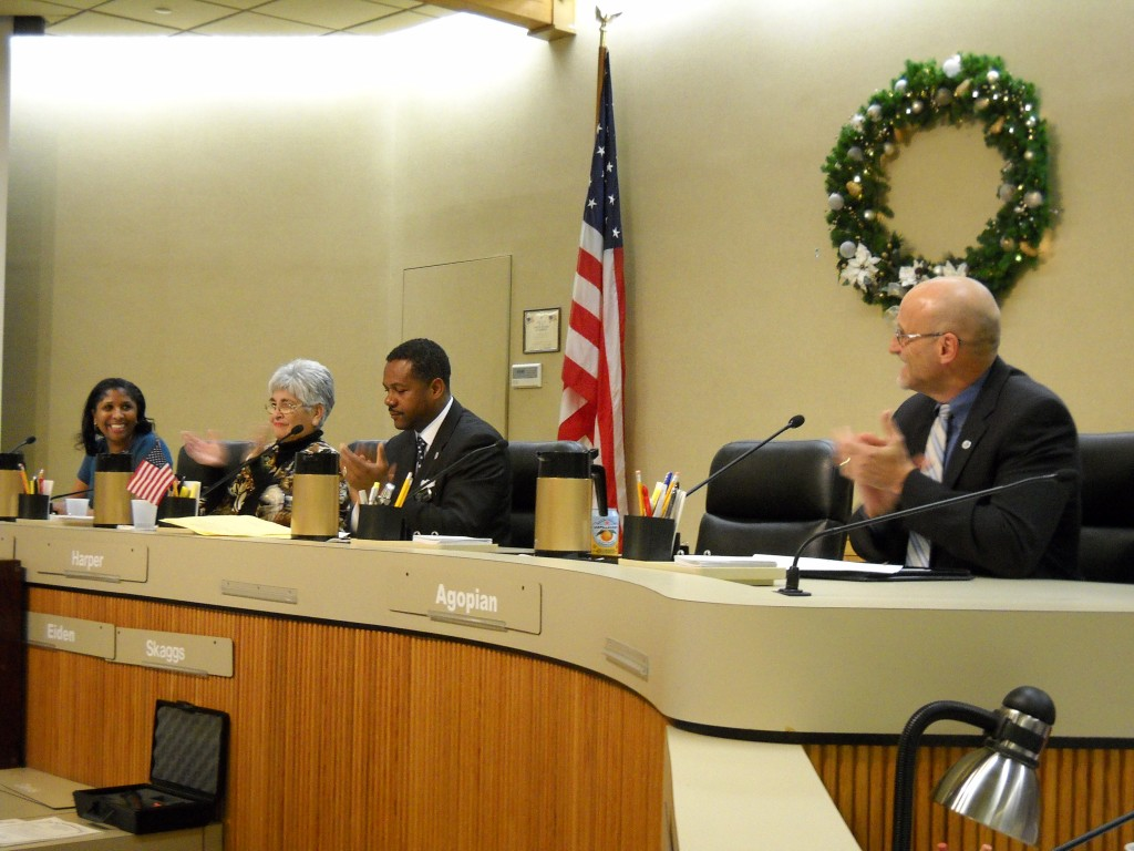 Monica Wilson takes her seat on the council 1024x768 Harper sworn in as Mayor, Antioch Council will appoint new council member to fill his council seat