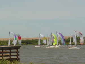 sailboats on the Delta