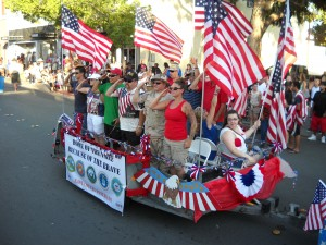 East County Military Families salute during the July 4th parade.