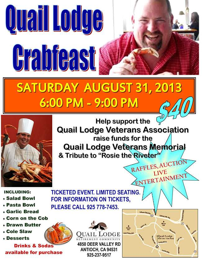Quail Lodge Crabfeast 8-31-13