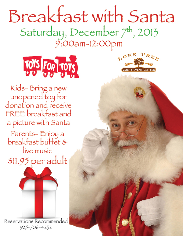 BreakfastwithSantaFlyer2013 Enjoy Breakfast with Santa at Lone Tree Golf & Event Center this Saturday