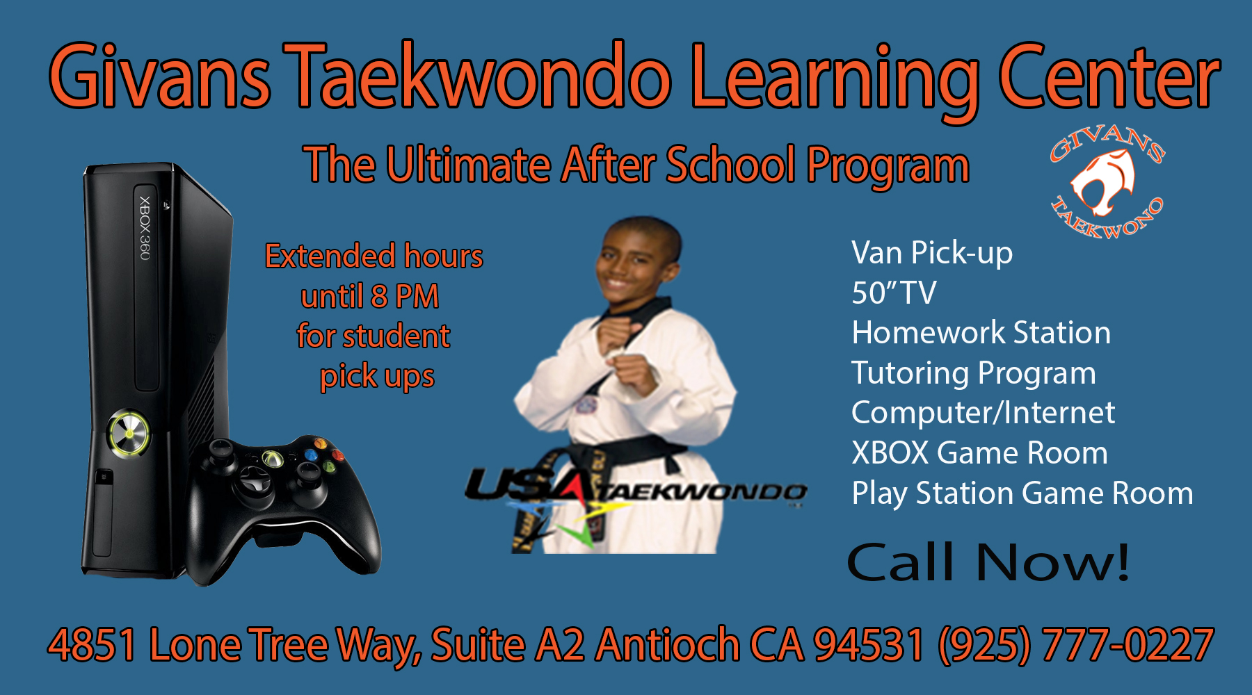 Givans ad 01 14 Antiochs Givans Taekwondo expands with after school Learning Center