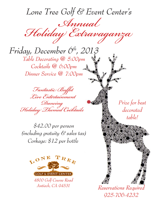 HolidayExtra2013 Annual Holiday Extravaganza this Friday at Lone Tree Golf & Event Center