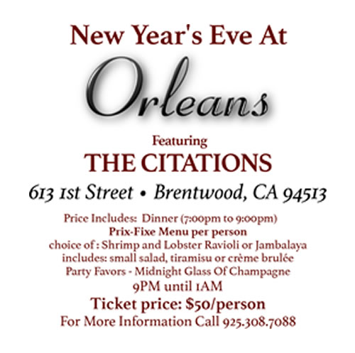 OrleansNYE Celebrate New Years Eve at Orleans with the Citations