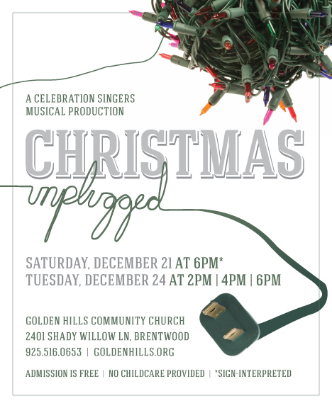 christmas unplugged ad01 Golden Hills choir to perform free Christmas Unplugged musical