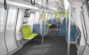Interior of new BART car