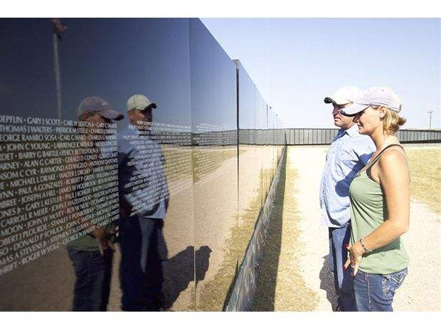 The Wall That Heals half-scale replica of the Vietnam Veterans Memorial in Washington D.C. - courtesy of www.hotbikeweb.com