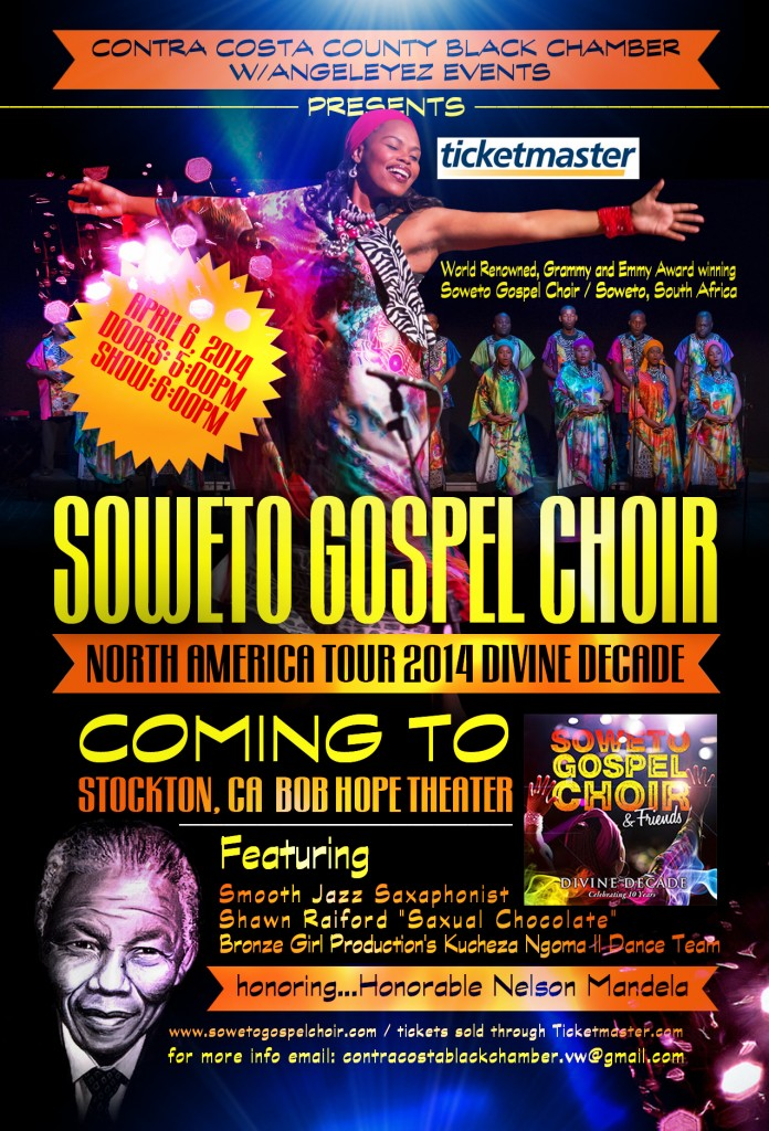 Soweto Gospel 696x1024 Soweto Gospel Choir in Stockton on Saturday