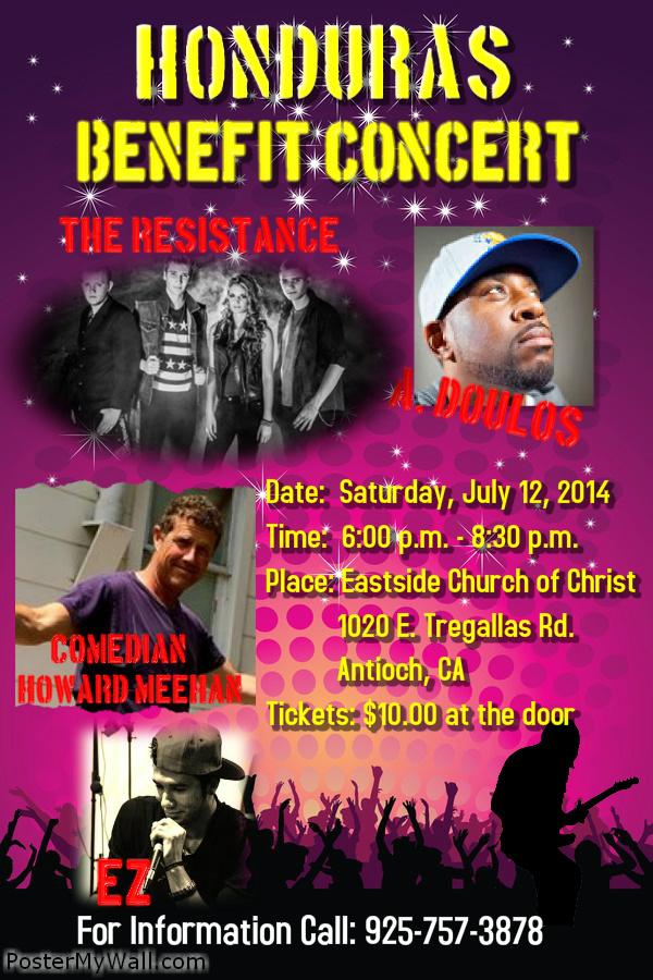 2014 Benefit Concert Poster Honduras Benefit Concert This Saturday in Antioch