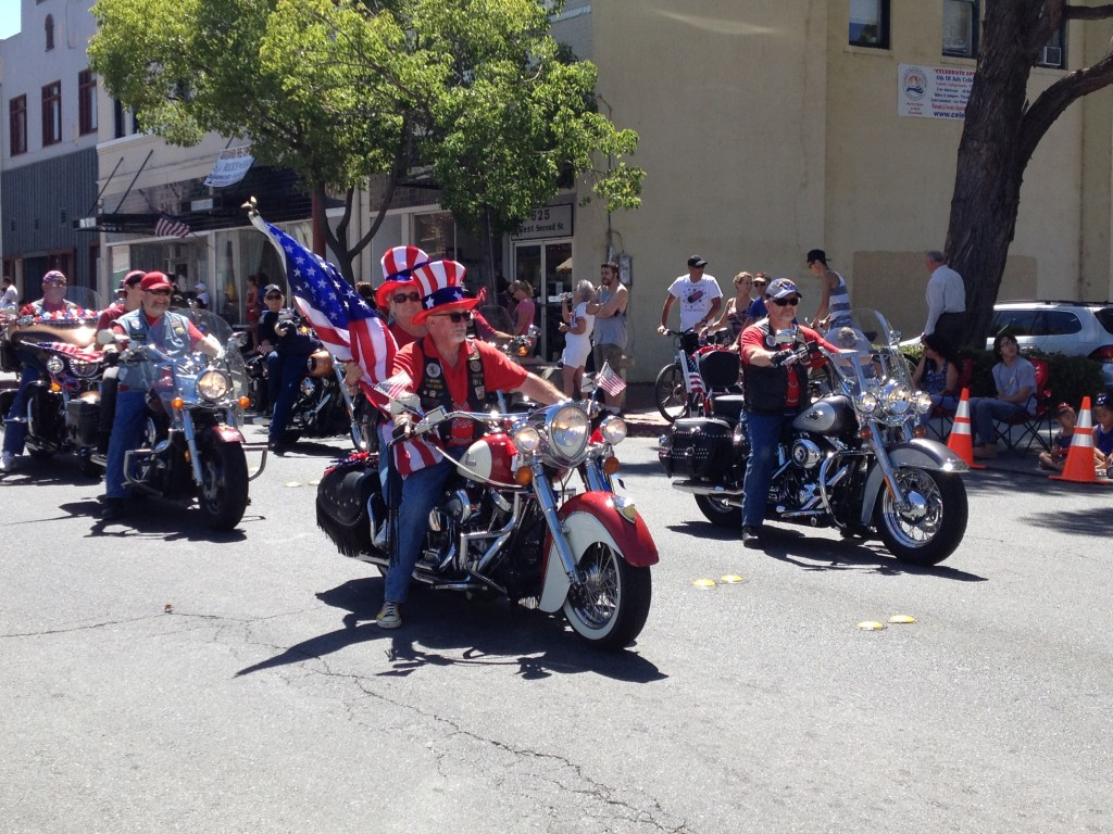 Veterans on motorcycles