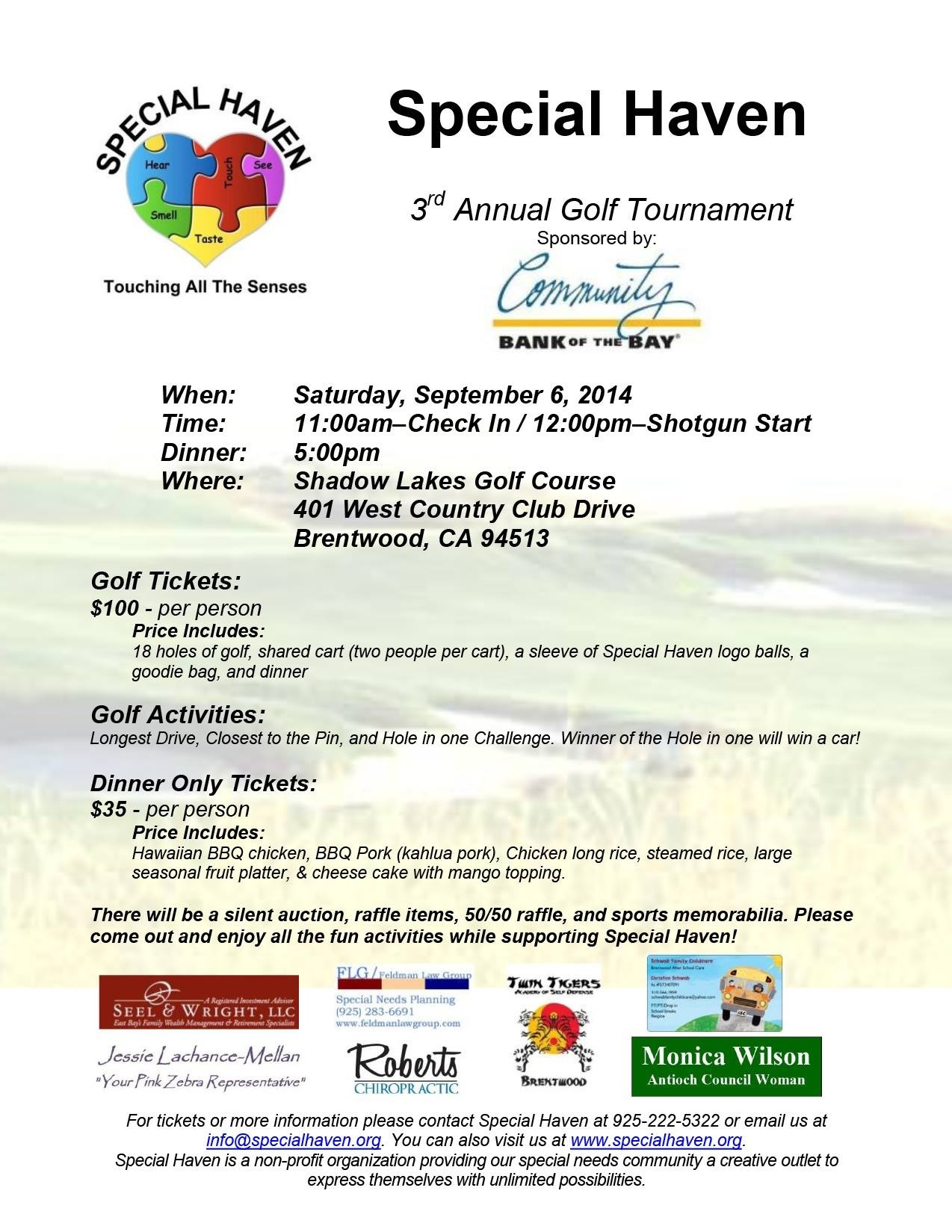 Special Haven Golf Tourney