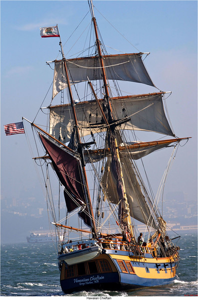 Hawaiian Chieftain rear Tall ship Hawaiian Chieftain visits Antioch, this week