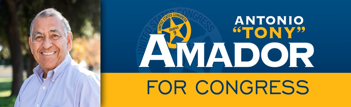 Tony Amador for Congress Candidate for Congress Tony Amador to hold fundraiser Sept. 17