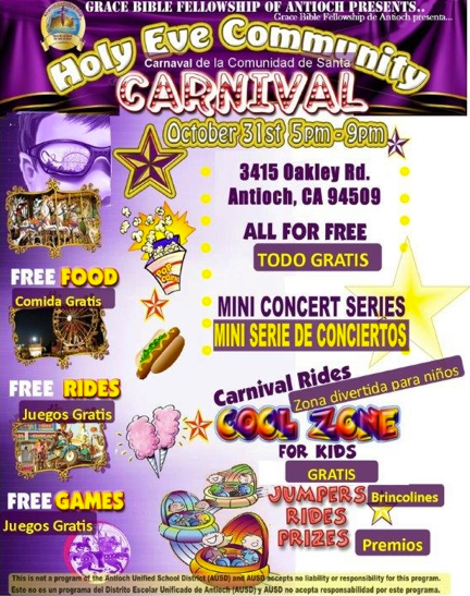 Holy Eve Carnival 2014 Grace Bible Fellowship to host annual Holy Eve Community Carnival on Halloween