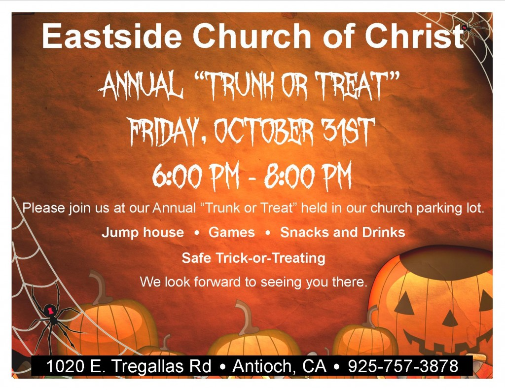 Trunk or Treat East Side 1024x791 East Side Church of Christ to host annual Trunk or Treat on Halloween