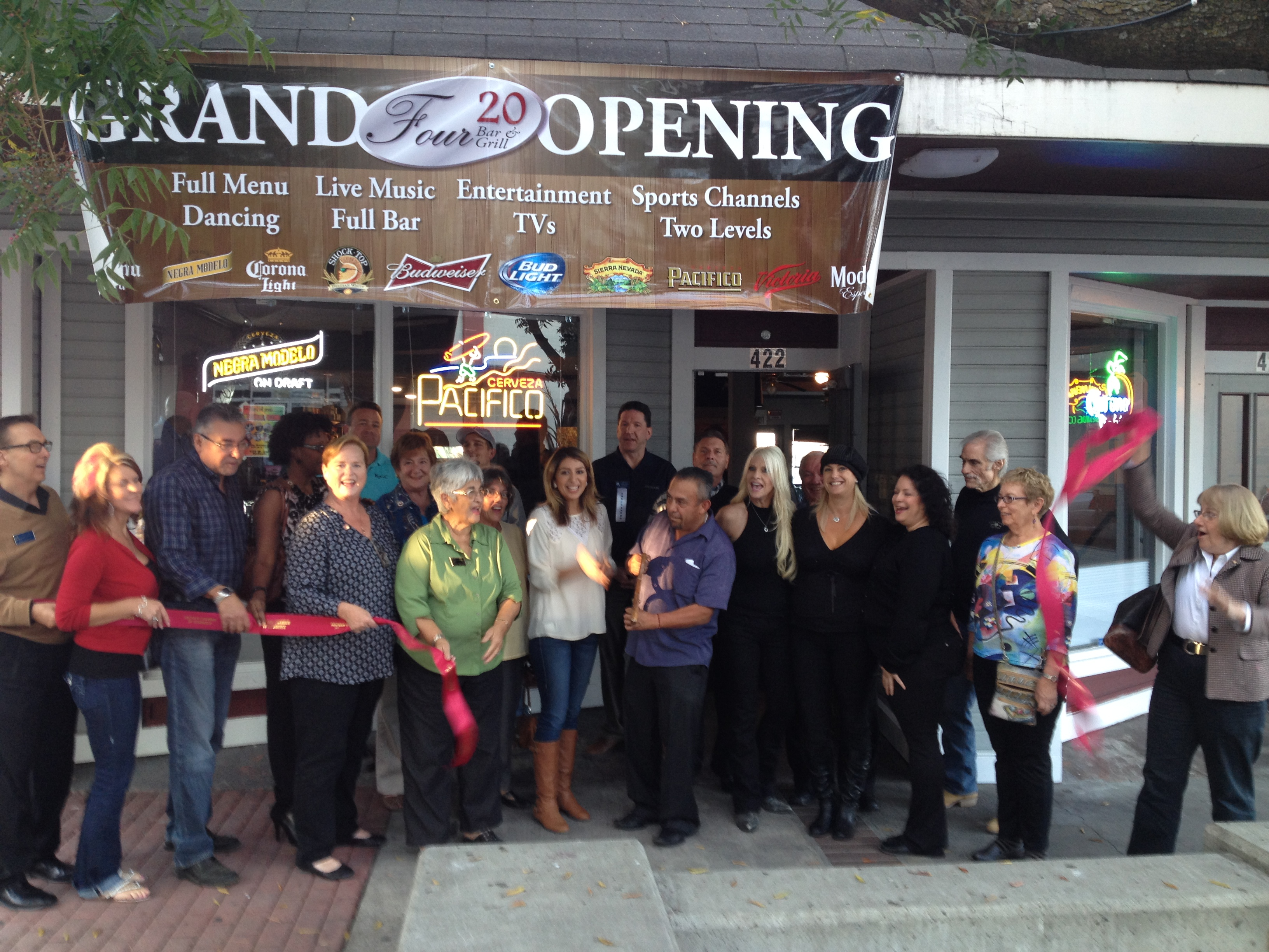 420 Bar Grill ribbon cutting b 11 6 14 New Four 20 Bar & Grill opens in downtown Antioch
