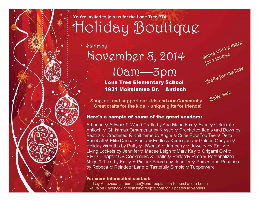 Holiday Boutique 1024x795 Santa, shopping, crafts and food at Lone Tree Elementarys Holiday Boutique, this Saturday