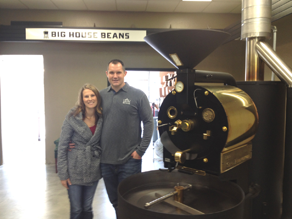 John and LeeAnn Krause with the San Franciscan Roaster at their Antioch location.