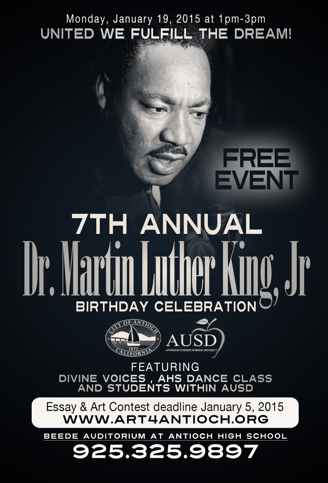 martin luther king jr day events in antioch essay and art contest  mlk event 1