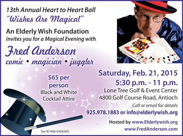 2015 Heart to Heart Ball Tickets to An Elderly Wish Foundations 13th Annual Heart to Heart Ball now available