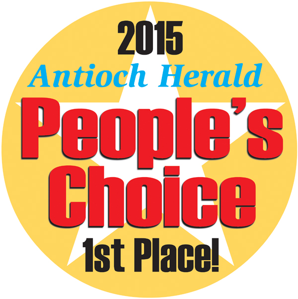 AH Peoples Choice 1st Place logo A Choose your favorite Antioch businesses in the 2015 People's Choice Awards program, be entered to win prizes!