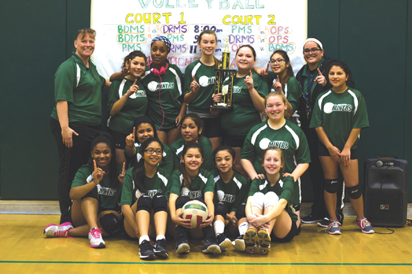BDMS girls volleyball champs Black Diamond Middle girls volleyball team wins back tournament crown