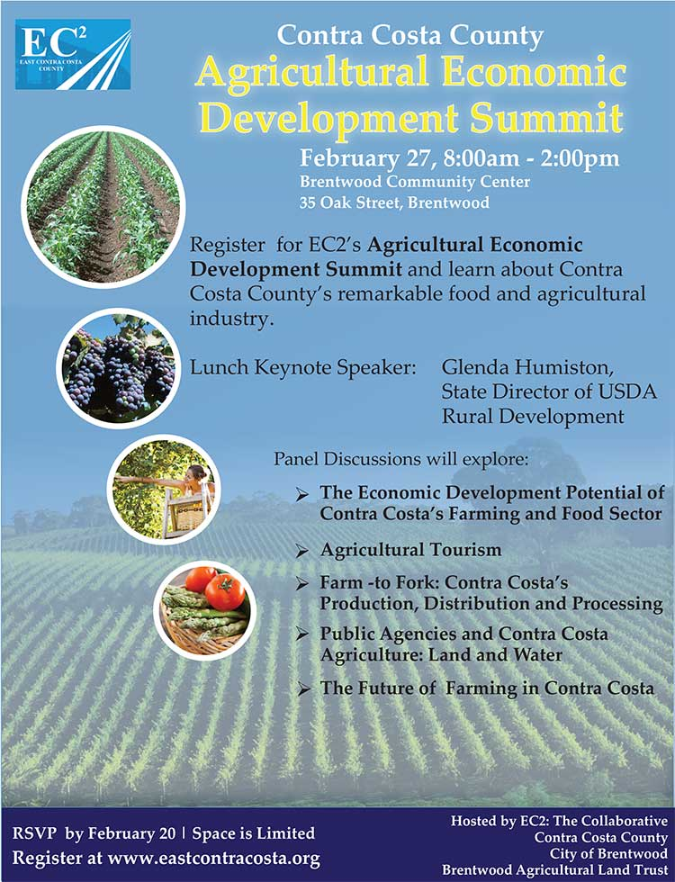 EC2 2015 Antioch Chamber to co host annual East County Economic Development Summit February 27