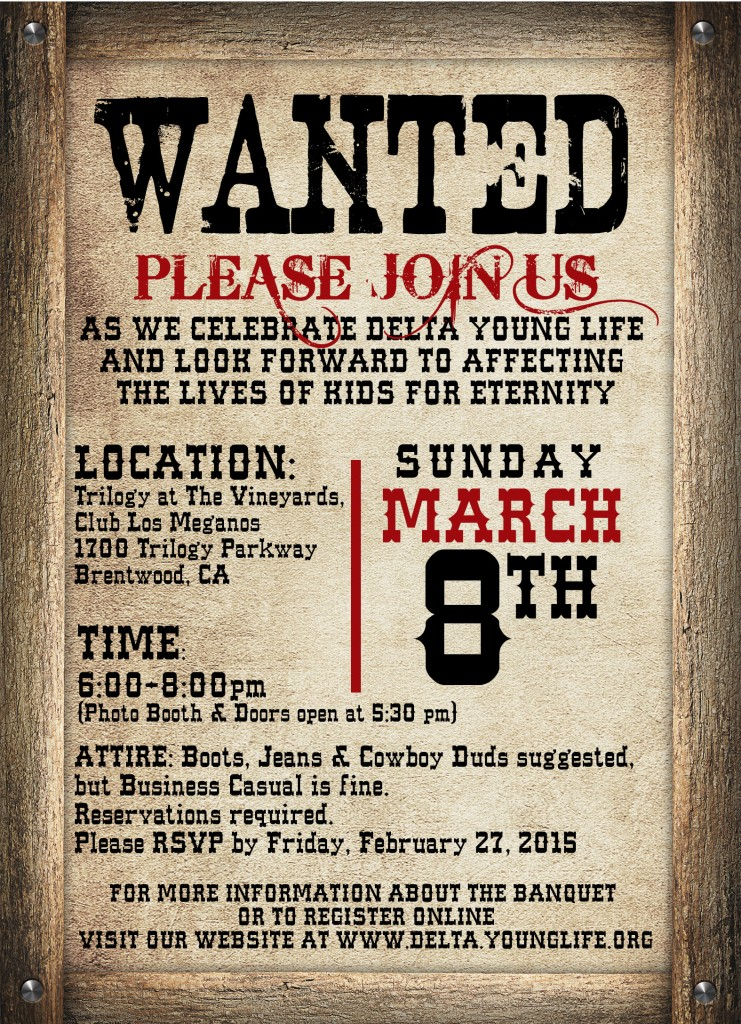 YL Invitation side 2 741x1024 Delta Young Life to hold annual fundraising dinner March 8