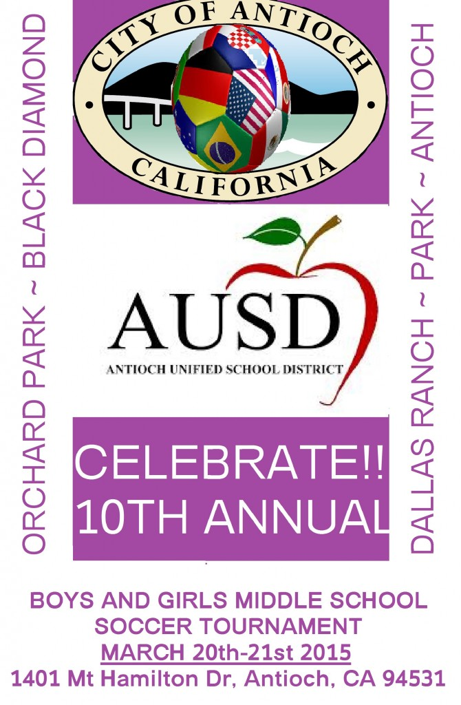 AUSD Soccer Tournament Flyer 670x1024 Antioch middle schools hold soccer tournament finals on Saturday, March 21