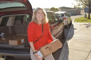 Barbara Cowan delivers boxes of dictionaries 300x199 Antioch Rotary Club expands annual project to give a dictionary to every third grader in town