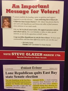 One of the mailers supporting Glazer, paid for by Bill Bloomfield.
