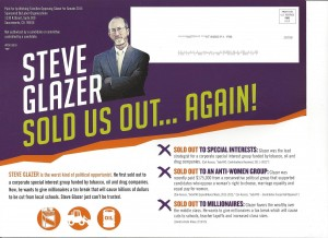 Working Families mailer 300x218 Political hard ball being played to defeat Glazer in special State Senate race